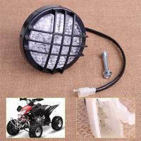 3 Pin 12V LED Head Light Front Headlight Kit Fit For ATV Quad 4 Wheeler Go