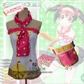 Anime Love Live Yazawa Nico Lolita Dress Uniform Cosplay Costume Summer Part-time Job Any Size Free Shipping