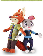 33CM best quality Unique Gifts high quality Zootopia Nick Wilde Judy Hopps Gazelle Yax Clawhauser Finnick doll children toys