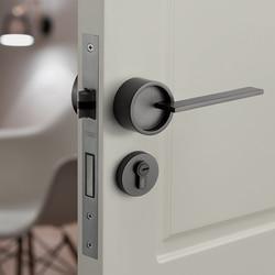 1 set Amerikanischen/Schlafzimmer Tür Griff Lock Sicherheit Eintrag Split Stille Lock Core Tür Möbel Innen Tür Griff Lockset