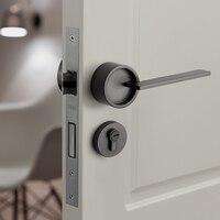 Gold American/ Bedroom Door Handle Lock Security Entry Split Silent Lock Core Door Furniture Indoor Door Handle Lockset