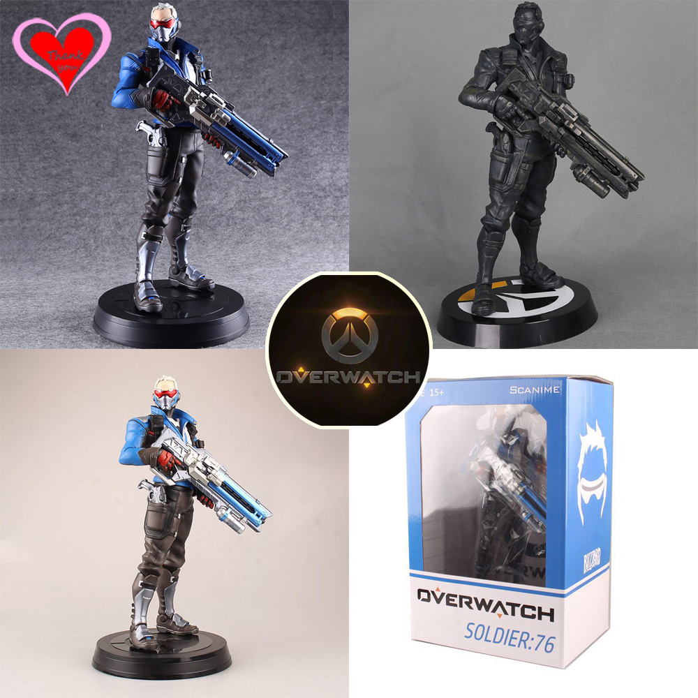 Love Thank You OW Over game watch Overwatches Soldier 76 pvc figure toy Collectibles Model gift