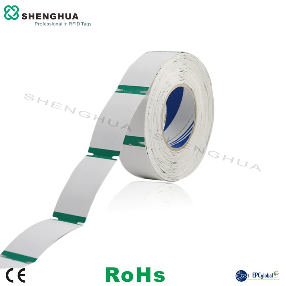 10pcs/roll 915mhz Uhf Rfid Clothing Apparel Tag Uhf Hangtag Ticket Epc 1 G2 90*40MM SH-I0101