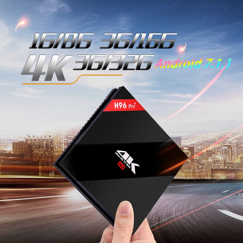 H96 Pro Plus Amlogic S912 Android 7.1 Smart TV Box Octa Core 3GB RAM 32GB ROM BT 4.1 4K 2.4G 5G WiFi PK X92 MX9 pro h96 pro plus tv box smart android 7 1 s912 bt4 1 octa core 4k 3gb 32gb 1000lan 2 4g 5 0g wifi media player pk x92 tx9 pro