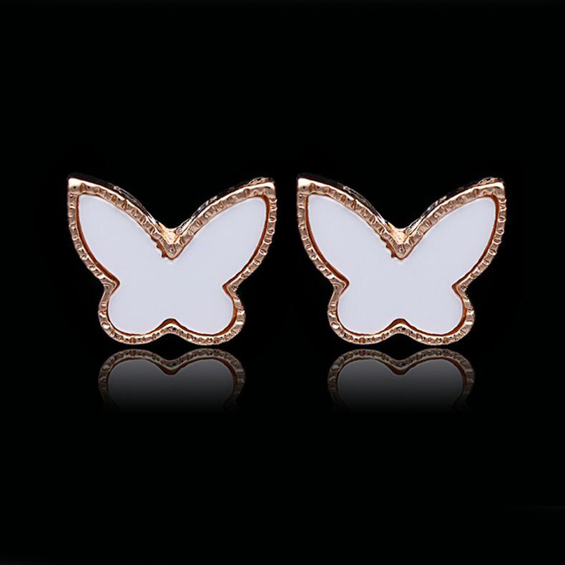 Fashion Fine Jewelry Delicate Elegant Temperament Butterfly Black/White Color Earrings For Women And Ladies gifts