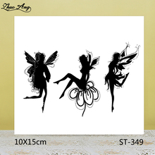 ZhuoAng Beautiful Flower Fairy Clear Stamps For DIY Scrapbooking/Card Making/Album Decorative Silicon Stamp Crafts
