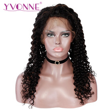 YVONNE Brazilian Virgin Deep Wave Wigs With Baby Hair Lace Front Human Hair Wigs For Women