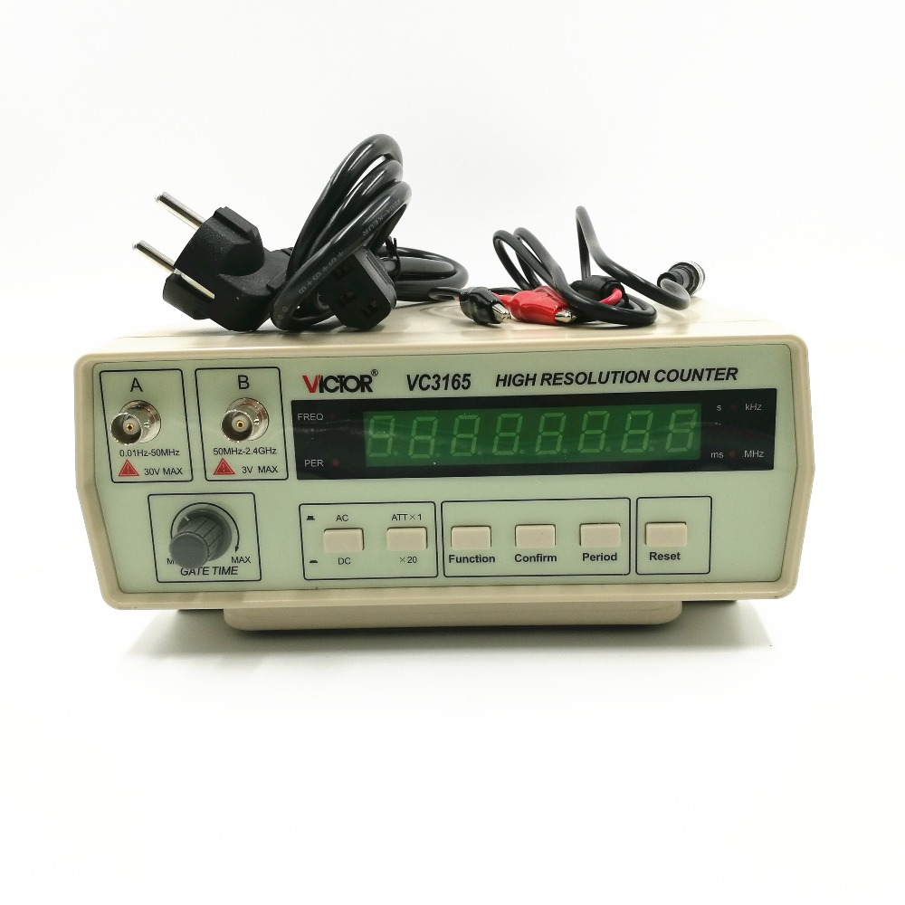 110V 220V New Style Top Quality 0 01Hz 2 4GHz Precision Frequency Meter Frequency Counter VC3165