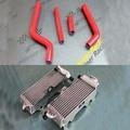 Para yamaha yz 125 1996-2001 r & l radiador de aluminio y juego de mangueras de silicona
