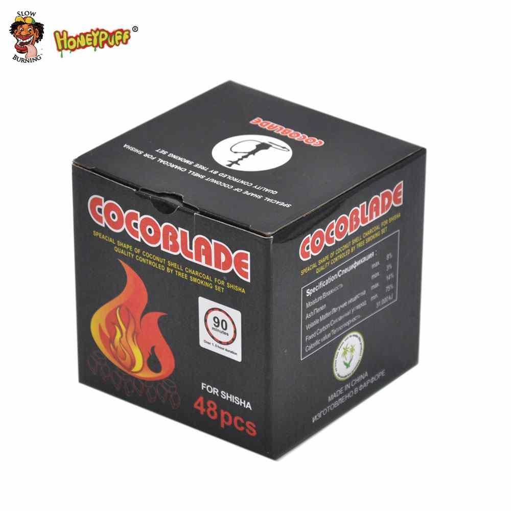 48 PCS / Box קוקוסליד קוקוס פחם פחם למחזיק פחם Kelaoke פחם קערה פחם פחם Shisha נרגילה