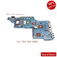 Nokotion 640451 001 642528 001 644643 001 for HP DV6 DV6 6000 Laptop motherboard with free cpu fully tested