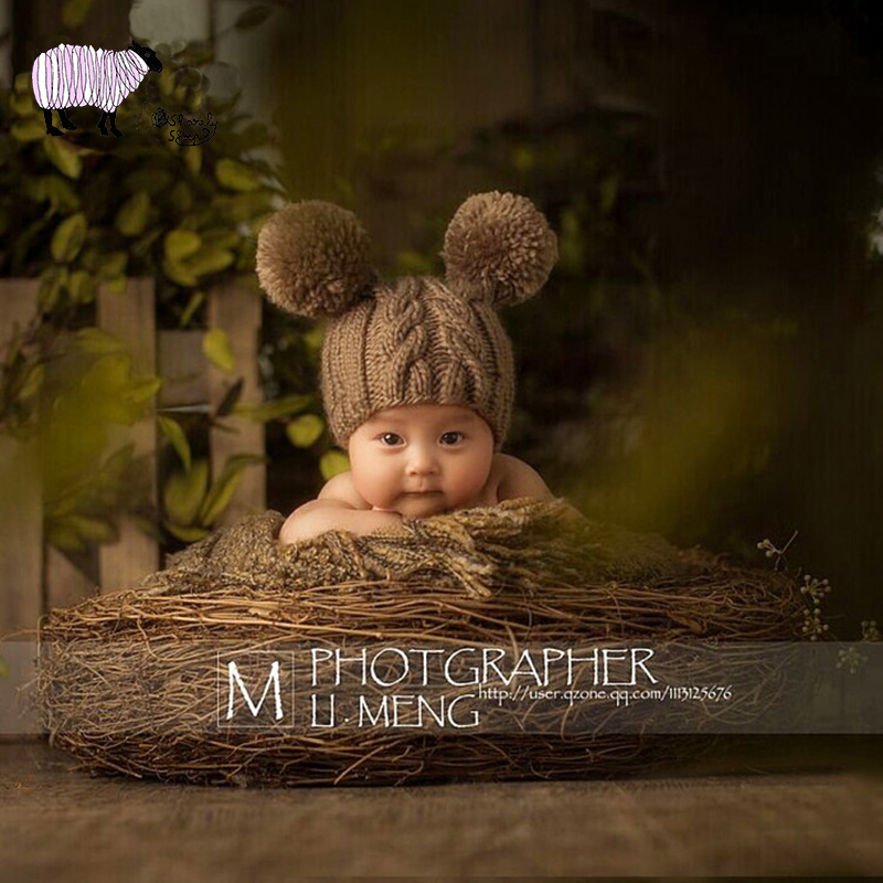 Hats & Caps Boys' Baby Clothing Motivated Newborn Baby Photography Crochet Hat Props Infant Bebe Fotografia Accessories Baby Girl Boy Photo Shoot Winter Hat Props
