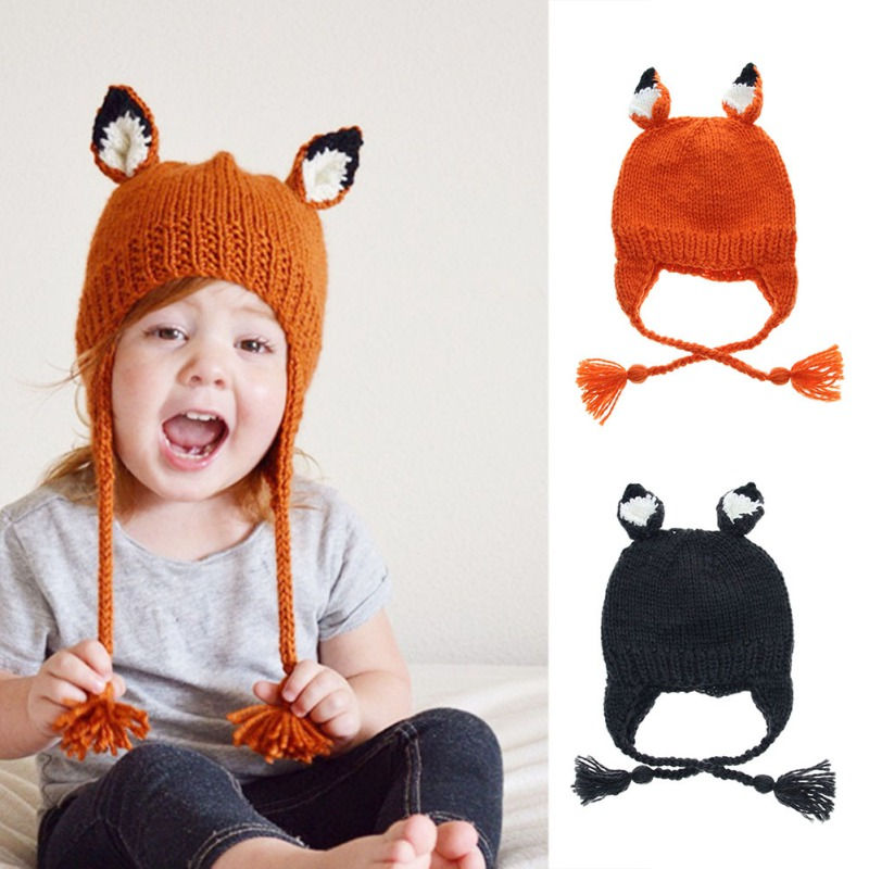 Impartial New Children\s Knitted Hats Baby Cartoon Animal Shape Hat Girls Warm Knit Lovely Caps Kids Soft Cute Cap For Winter Convenient To Cook Accessories