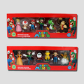 6Pcs/set Super Mario Bros PVC Action Figure Toys Dolls Mario Luigi Yoshi Mushroom Donkey Kong in Gift Box Lovely Kids Gift