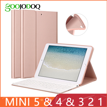 Keyboard Case For iPad Mini 3 2 1 4 5 2019 [Multiple Stand] PU Leather Silicone Cover for iPad Mini Case Funda teclado Smart