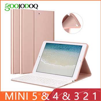 Keyboard Case For iPad Mini 3 2 1 4 5 2019 [Multiple Stand] PU Leather Silicone Cover for iPad Mini Case Funda teclado Smart - DISCOUNT ITEM  35 OFF Computer & Office