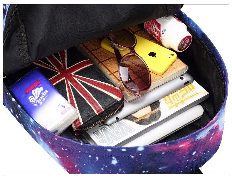 Anime luminosa sacos de escola para o