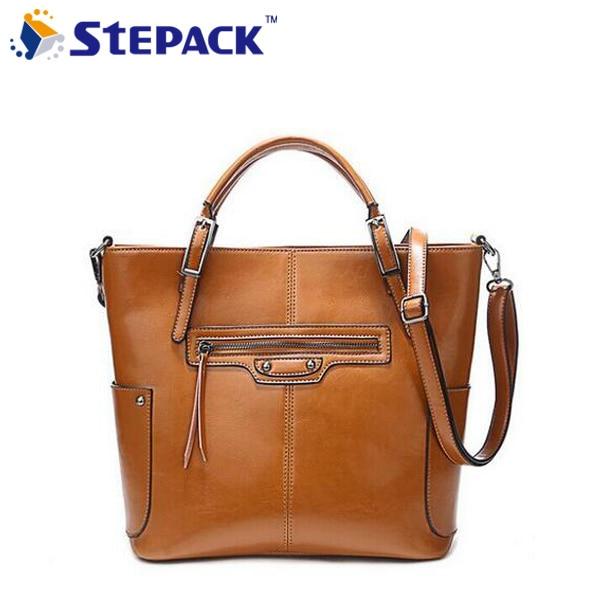 ФОТО Hot Sale Genuine Leather Women Handbag Shoulder Bag Messenger Bags Fashion Motorcycle Women Bag Casual Lady Shopping Bag WBG1032
