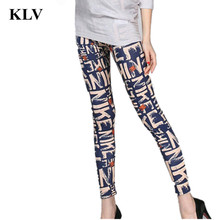 New Fashion Women leggings Letter Printed color legins Female Fluorescence Leggins Pant Legging Pants for Woman Trousers Oc11