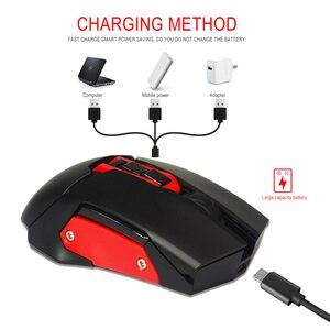 Image 5 - HXSJ беспроводная мышь 2,4G игровая мышь 4800 Регулируемая DPI перезаряжаемая USB мышь плеер красочная подсветка для ПК ноутбуков игр