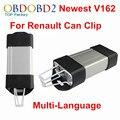 3 Unids/lote V162 Para Renault Puede Acortar el Interfaz de Diagnóstico Multi-Idioma Renault Puede Acortar Escáner Herramienta OBD2 Para Renault Coches