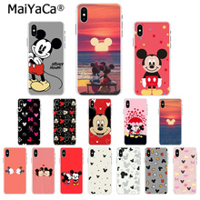 MaiYaCa Beauty Beast Kissing Mickey Minnie Mouse TPU Soft Silicone Phone Case for Apple iPhone 7 6 6S Plus X XS MAX 8 5 5S SE XR