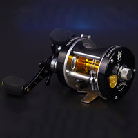 Double centrifugal brake 5.2:1Corrosion resistant bearings fishing reel spinning metal Right Left Hand Bait Casting Fishing Reel
