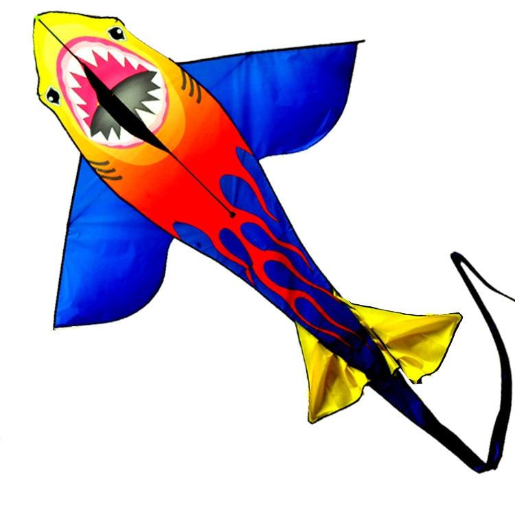 Nouveau arrivent haute qualité énorme Requin cerf-volant avec la ligne de la poignée/chaîne facile à voler