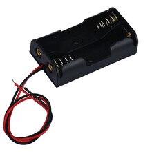 Box Suporte Para 2 x AA Com Fio Leva De Armazenamento Da Bateria de Plástico Caso o transporte da gota VENDA QUENTE 18Jan29