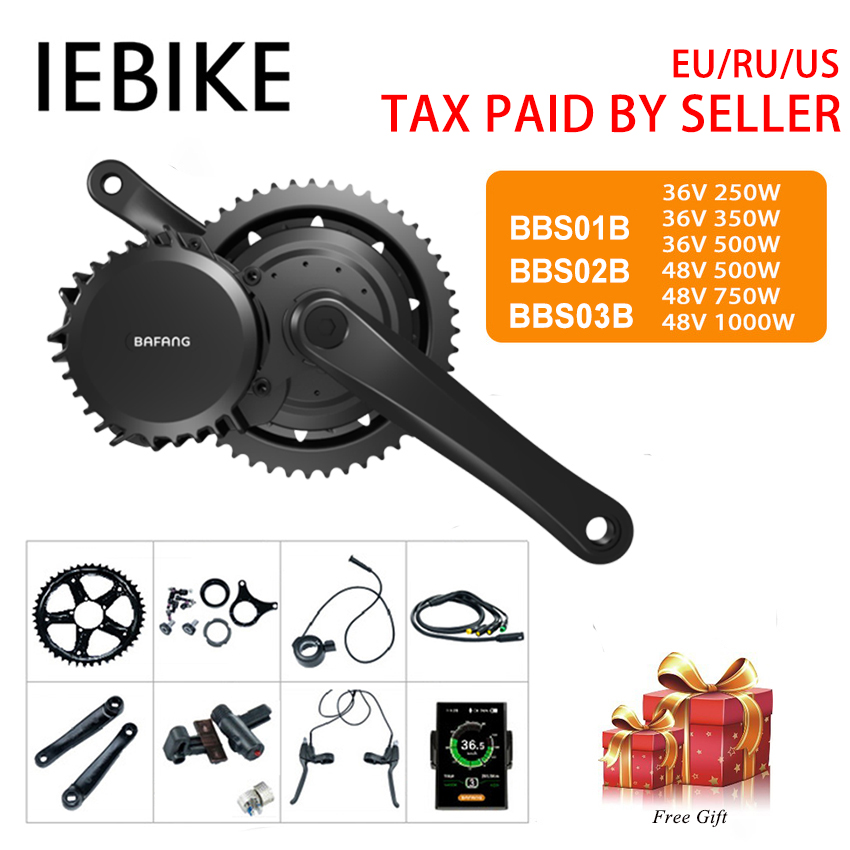 Bafang BBS01B/02B BBSHD Mitte Antrieb Motor Elektrische Fahrrad Motor Kit Elektrische Motor für Bikes DIY Ebike Conversion Kit