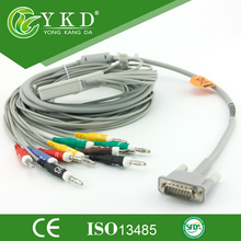 EKG Cable 10 Leads for HP M1770A ecg machine IEC Banana 4 0 pin End