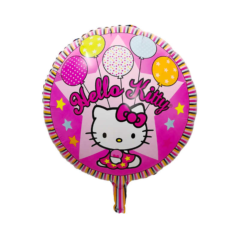 0e9dae419 ... 5pcs/lot Hello Kitty foil air balloons for baby shower 1st 2nd 3rd  first year ...