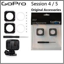 Für gopro original Objektiv protetive rahmen/UV glas Objektiv Abdeckung/Kappe und Werkzeuge für Gopro Hero 5 sitzung 4 sitzung kamera zubehör