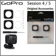 Tampa e ferramenta para gopro hero 5 session, tampa de lente de vidro uv original acessórios da câmera 4 sessão