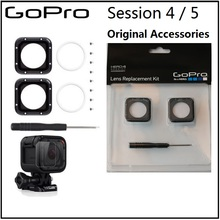 Voor gopro originele Lens protetive frame/UV glas Lens Cover/Cap en Gereedschap voor Gopro Hero 5 sessie 4 sessie camera accessoires
