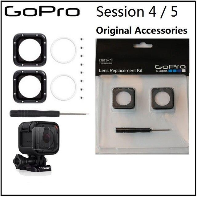 לgopro מקורי עדשת מסגרת protetive/UV זכוכית עדשת כיסוי/כובע וכלים לgopro Hero 5 מושב אביזרי מצלמה 4 מושב
