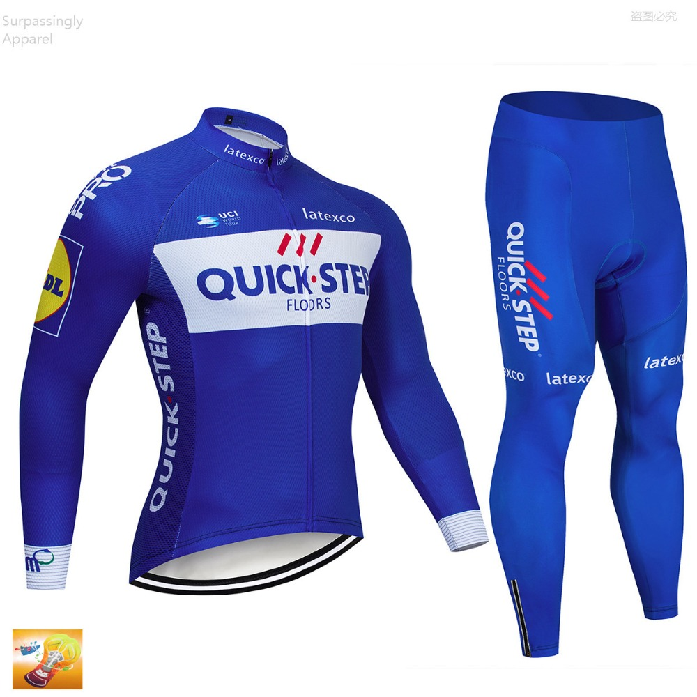 Pro Bicycle Cycling Clothing Pant Jersey Suit Sets Quick Step Men Bike Outdoor Sports Set Cycling Jersey Long 16d GEL Pad ShortsPro Bicycle Cycling Clothing Pant Jersey Suit Sets Quick Step Men Bike Outdoor Sports Set Cycling Jersey Long 16d GEL Pad Shorts