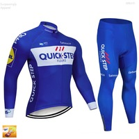 Pro Bicycle Cycling Clothing Pant Jersey Suit Sets Quick Step Men Bike Outdoor Sports Set Cycling Jersey Long 16d GEL Pad Shorts
