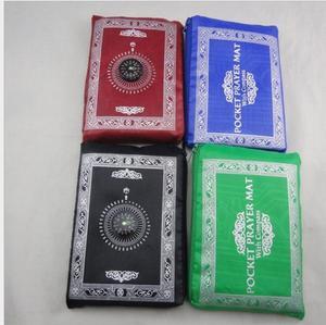 Image 3 - 100 PCS ใหม่ล่าสุดมุสลิมเสื่อสวดมนต์กับเข็มทิศ 4 สี DHL Fedex จัดส่งฟรี