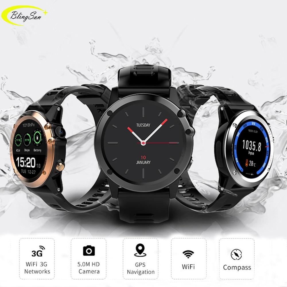 H1 Smart Watch Android 4.4 Waterproof 1.39 MTK6572 3G Wifi GPS SIM BT4.0 Smartwatch Women Men Wearable Device For iPhone Xiaomi