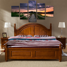 Canvas Painting Boardwalk Sunset Landscape Posters And Prints Wall Pictures For Living Room Art Decoration