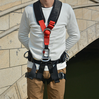 High Quality Professional Rock Climbing Harnesses Full Body Safety Belt Anti Fall For Outdoor Mountaineering Rescue Equipment