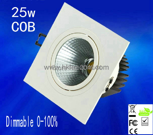ФОТО 2015 Special Offer 1pcs/lot ,25w Dimmable Cob Led Down Light,spot Light,led Bulbs 100lm/w High Brightness,3 Years Waranty Time.