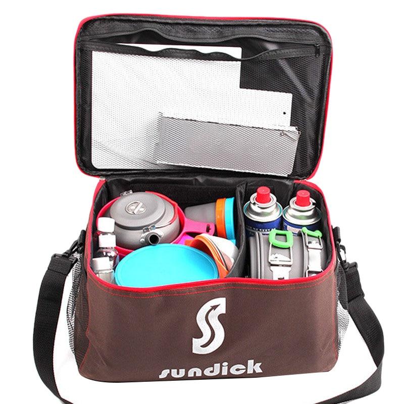 Tableware Cookware-Set Picnic-Bag Food-Storage-Bag Gas-Tank-Bag Outdoor Camping Pot Wild