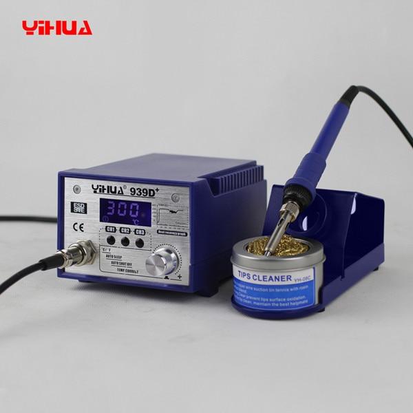 YIHUA 939D+ anti-static Adjustable thermostat 110V/220V EU/US PLUG electric iron soldering welding station soldering iron