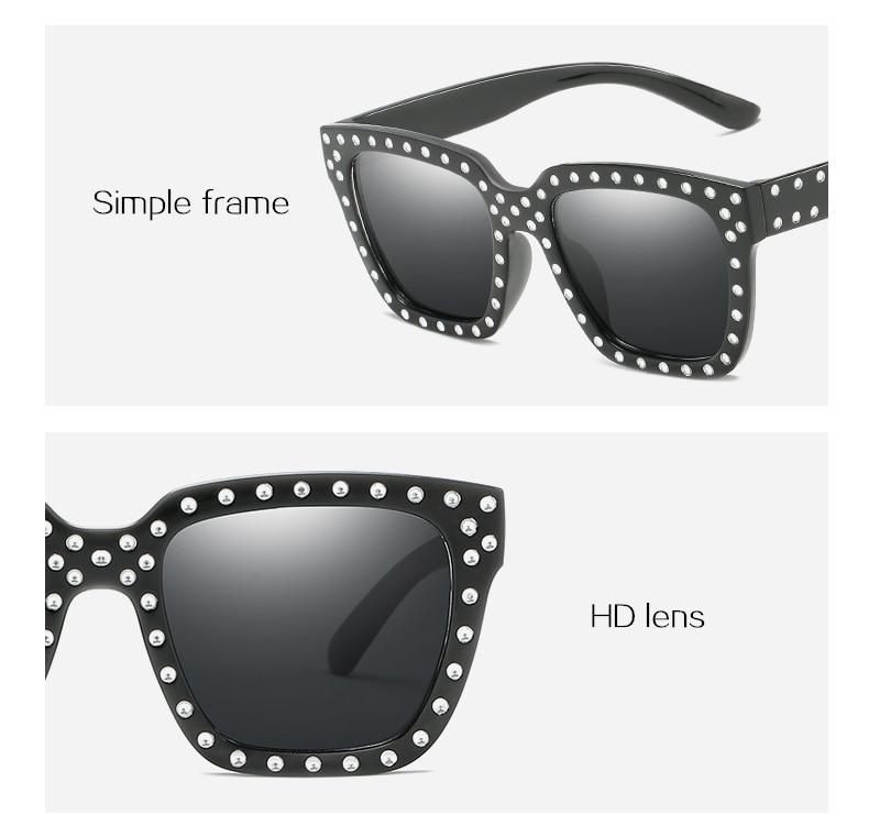 c56b6be95 Melhor Estilo Óculos De Sol Tendência Personalidade Senhoras BG265 280  A1099 Óculos de Sol Rebite Decorativo Óculos 2018 HOT Barato Online Preço.