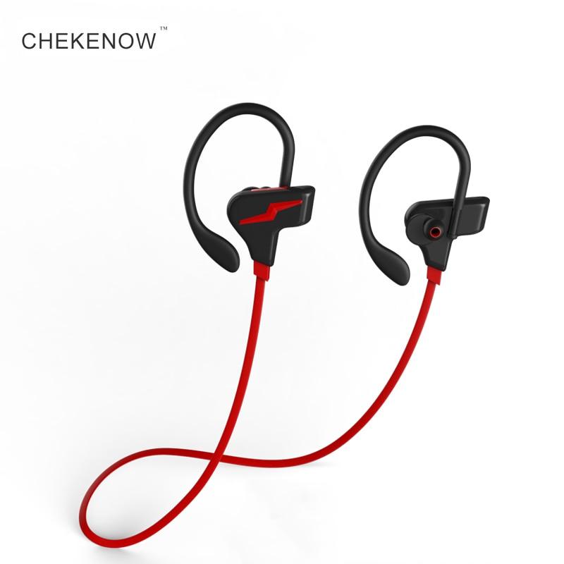 Chekenow auriculares bluetooth IPX7 impermeable inalámbrico deportes auriculares bluetooth auriculares con micrófono