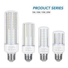 Corn Bulb E27 LED Bulb E14 Candle LED Light 220V Bombillas LED Lamp 5W 10W 15W 20W Light No Flicker Lampada 2835 Energy Saving