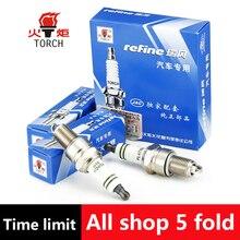 4pcs/lot China original TORCH Iridium spark plugs 9011 for for CHEVROLET aveo/lanos/niva2123/spark/DAEWOO matiz/nexia