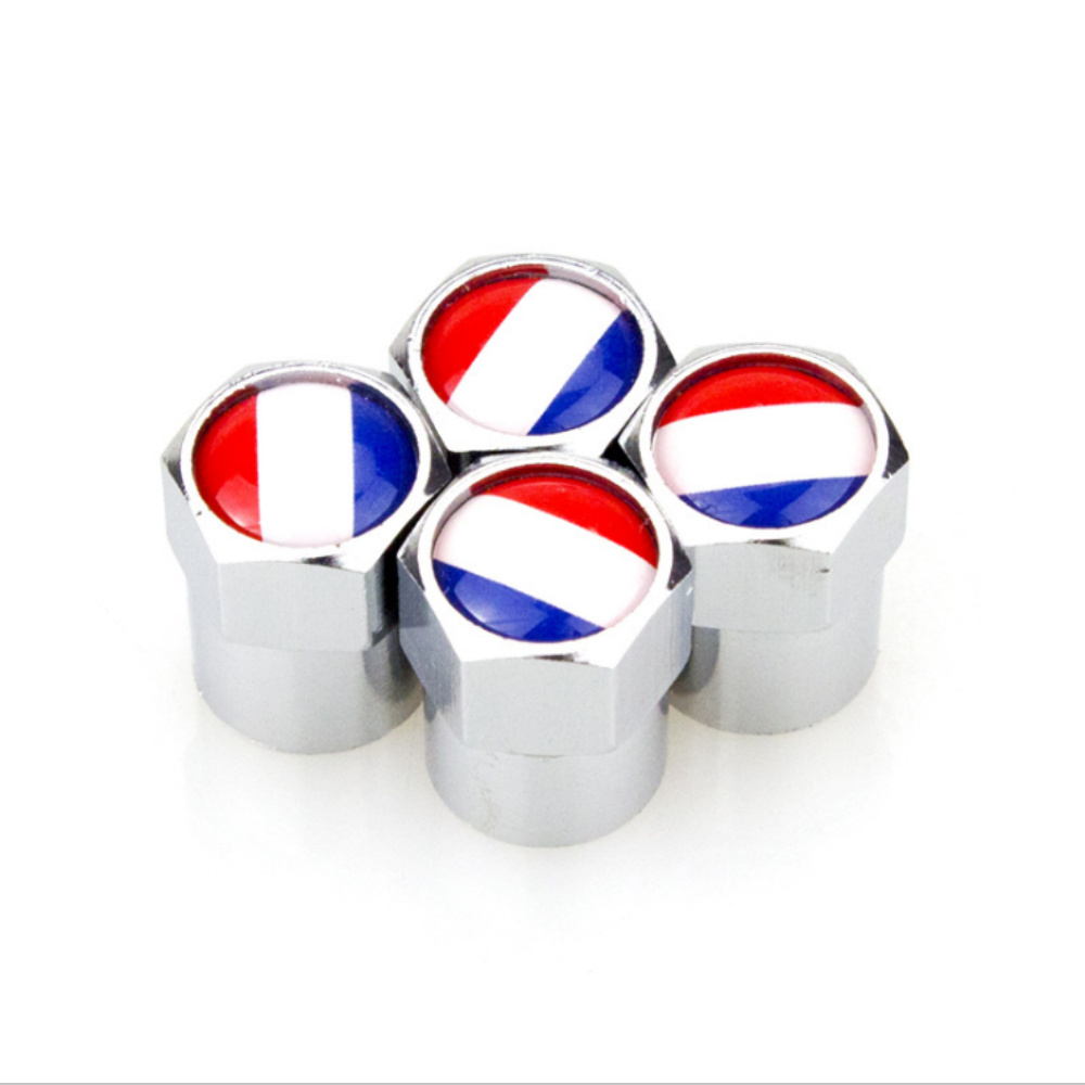 4 X Wheel Tire Valve Caps Covers France Flag Logo Car Accessories For Peugeot 307 206 407 406 405 3008 4008 208 308 306 107